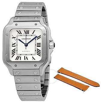 Cartier Santos Silvered Opaline Dial Herrklocka WSSA0029