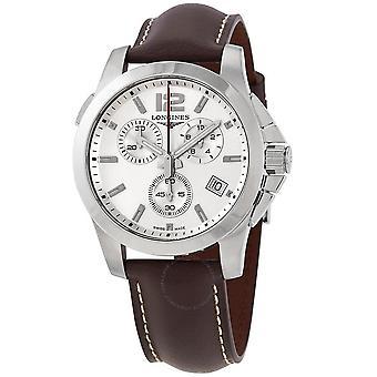Longines Conquest Chronograph Quartz Silver Dial Men's Watch L3.702.4.76.5