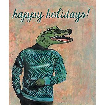 Alligator Happy Holiday Cards