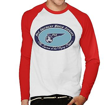 Pan Am The System Of The Flying Clippers Men's Baseball Long Sleeved T-Shirt