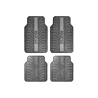 bil gulv matte sett sparco spc1913gr universell svart / grå (4 stk)