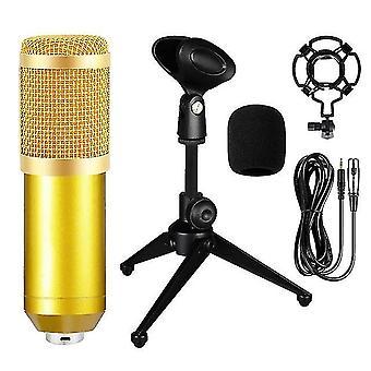 Bm800 Kondensator Mikrofon professionelle Live-Podcasting-Mikrofon mit Soundkarte für Youtube-Abonnenten PC Gaming Voice skype