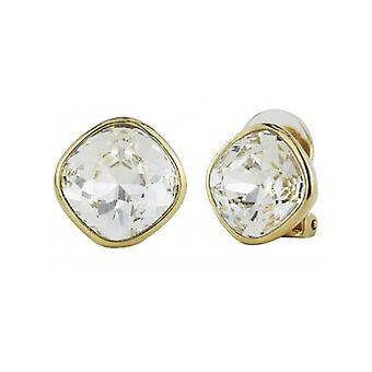Traveller Clip Earrings - Gold Plated Swarovski Crystal  - 155588 - 852