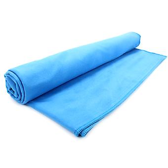Quick Drying Microfiber Towel | Pukkr Blue Small (50x30cm)