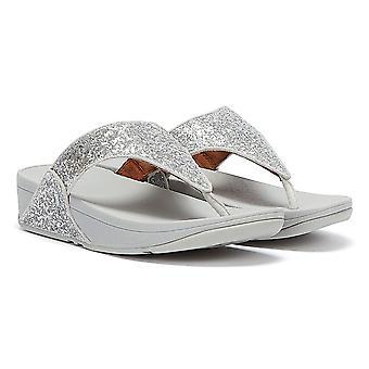 FitFlop Lulu Glitter Mulheres Sandálias de Prata