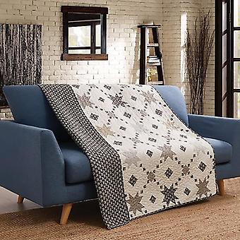 Spura Home Patchwork Midnight Star Transitional Quilted Throw