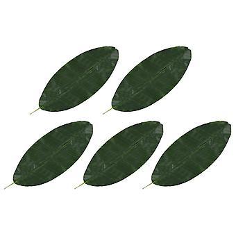 vidaXL الاصطناعي يترك الموز 5 pcs. الأخضر 80 سم
