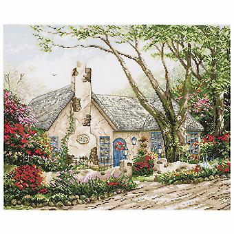 Anchor Counted Cross Stitch Kit: Maia Collection: Morning Glory Cottage