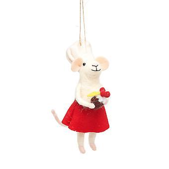 Sass & Belle Baker Mouse Xmas Decoration