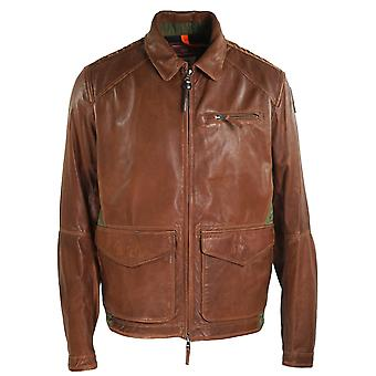 Parajumpers Jules Brown Leather Jacket