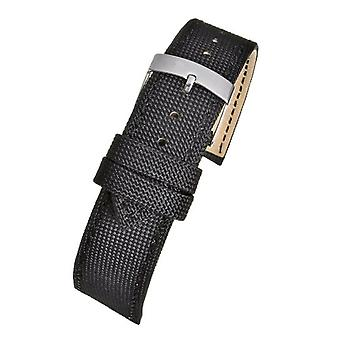 Recycled watch strap ocean plastic black 14mm to 20mm