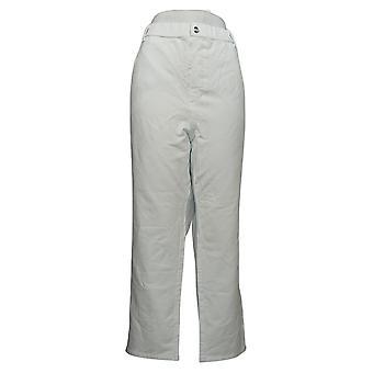 Quacker Factory Women's Petite Jeans Stretch Straight Leg White A260678