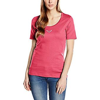 Trigema 502211 T-Shirt, Viola (Hibiskusblute/Melange 338), Medium Donna
