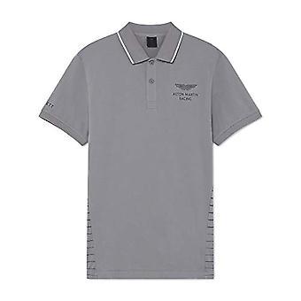 Hackett Amr Stripe Back T-Shirt, Grey (Silver Grey 914), Small Man