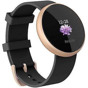 ساعة ذكية، ساعة ذكية المرأة الرجال مراقبة معدل ضربات القلب، IP68 للماء التلقائي شاشة المنبه شاشة ساعة ذكية الهاتف المحمول لالروبوت فون (الذهب)