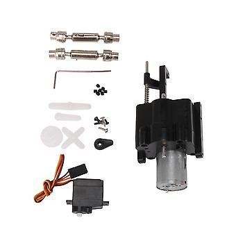 RC 370 Split 2 Gang Getriebe mit Servo Antriebswelle Schrauben Kit Schwarz