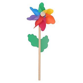 Moinho de Vento de Madeira, Wind Spinner, Pinwheels, Decoração do Jardim caseiro, Crianças