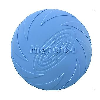 L 22cm blue dog flying disc toy 5.9/7.1/8.7inch,pet training rubber frisbee,floating water dog toy interactive toys az7980