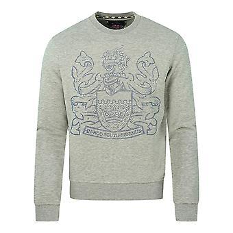 Aquascutum Pixel Aldis Logo Grey Sweatshirt