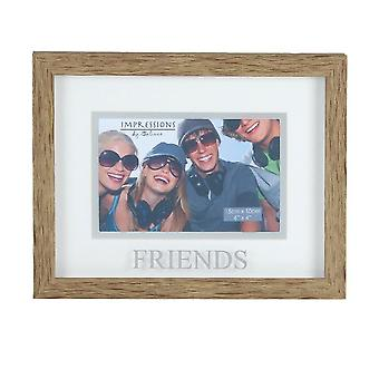 Widdop & Co. Wood Effect Plastic Friends Frame 4 X 6