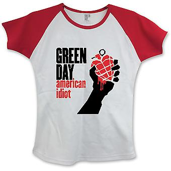 Green Day - American Idiot Women's Small T-Shirt - White,Red