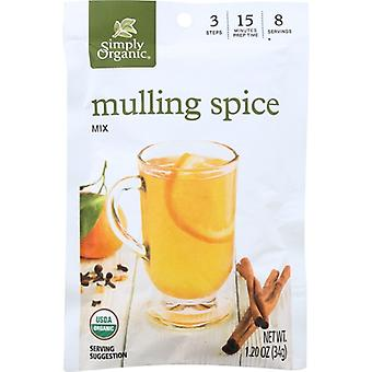 Simply Organic Ssnng Mulling Org, Case of 8 X 1.2 Oz
