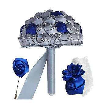 3pcs/set Crystal Bride Simulation Band Hochzeit Bouquet