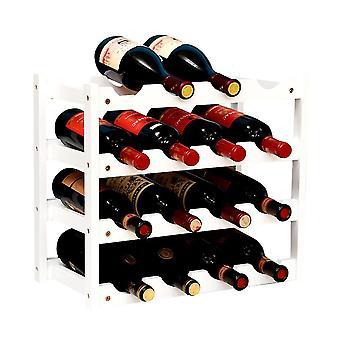 White 3 layer bamboo wine rack kitchen wine cellar wine rack decoration wine rack homi4980