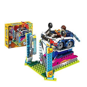 692003# Amusement park ferris wheel jumper series assembled building blocks children's toys az13106