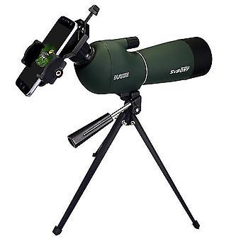 IPRee 20-60x60 Zoom Monocular HD Optinen BK7 Lintujen tarkkailu Teleskooppi + Jalusta + Puhelimen pidike