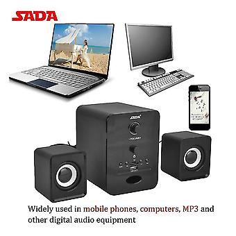 Bluetooth 2.1 desktop pc laptop telefoon luidspreker Tf / u disk fm radio muziekspeler