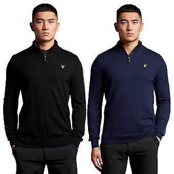 Lyle & Scott Mens 2021 Branded 1/4 Zip Breathable Pullover Golf Sweater