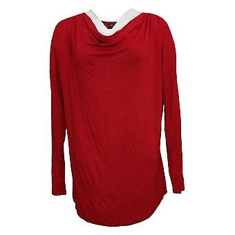 DG2 przez Diane Gilman Damski sweter v-neck Raglan Sweter Czerwony 735112