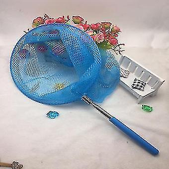 Roestvrij staal telescopische netten kinderen visnetten en insectennetten en vlindernetten (blauw)