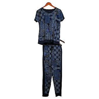 Cuddl Duds Femme Active Regular Knit Terry Lounge Set Bleu A373765