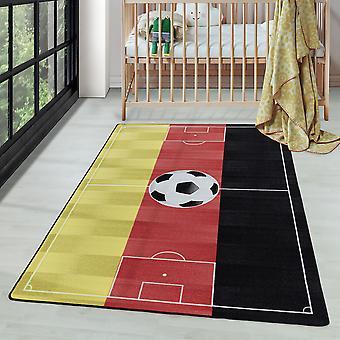 Short Pile Children's Carpet Play Carpet Carpet Football Duitsland Rood