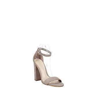 Schutz   Enida Nubuck Leather High Block Heel Sandals