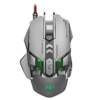 New Wired Mechanical Gaming Mouse, Luminous Ergonomics 7-key Macro Definition Mouse Feel Comfortable