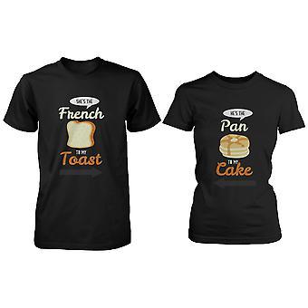 French Toast und Pfannkuchen süße paar Shirts sein und ihn lustig passende Tees