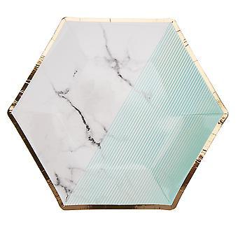 Värilohko marmorilevy - Keskikokoinen - Minttu