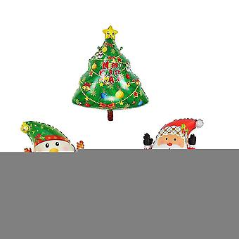 Balloons 25 inch christmas snowman santa tree kit foil balloons for christmas party supplies xmas christmas gifts-pack