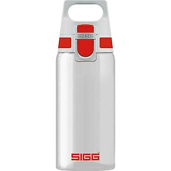 Sigg Total Clear One Red 0.5L Polypropylene Drinking Bottle Leak-Proof - 8692.7