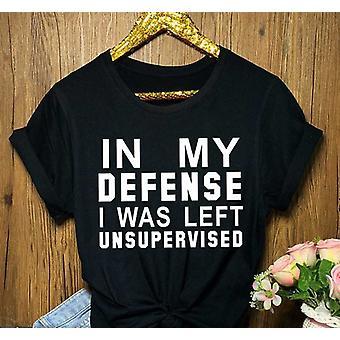 T-shirt d'impression de lettre lâche occasionnel de femmes