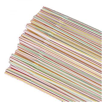 600pcs Disposable Plastic Colorful Straws Flexible Straws For Banquet Bar Drinks