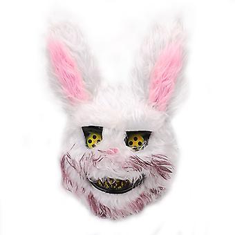Blutige Hase Plüsch Maske Halloween Festival Horror Maske Bunny Kopfbedeckung Frauen Cosplay