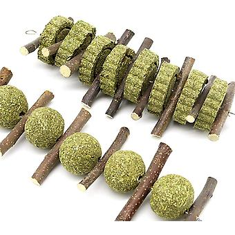 Bunny Chew Toys For Teeth, Nature Grass Cake,woven Grass Ball,rabbit