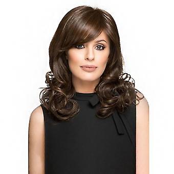 Brand Mall Wigs, Pelucas de encaje, realista oblicuo Bangs peluca corta peluca