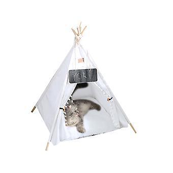 Pet Teepee, Кровать для собак и кошек, Домики для домашних животных с толстой подушкой