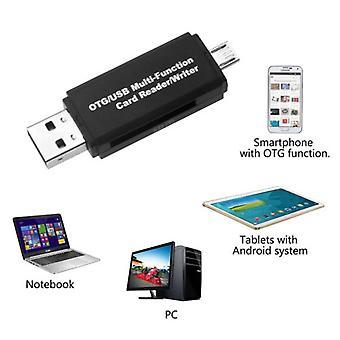 Micro USB Otg Para adaptador USB 2.0 Sd/leitor de cartão de memória para ipad iphone apple