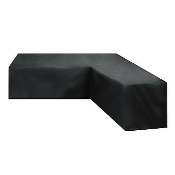 Corner Sofa Cover Furniture Dust Cover Outdoor Table Cover,215*215*87cm,black
